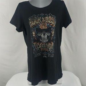 TORRID Rock N Roll Tour Short Sleeve Tee Shirt